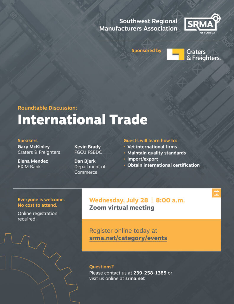 International Trade Roundtable July 28, 2021 8:00 a.m.
